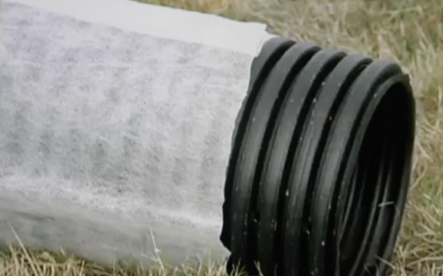 This image shows the drainage pipe used in a trench drain
